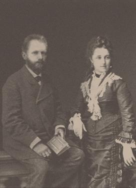 The composer Pyotr Ilyich Tchaikovsky (1840-1893) with his wife Antonina Miliukova, 1877