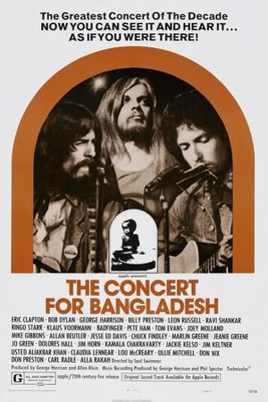 The Concert for Bangladesh, from Left: George Harrison, Leon Russell, Bob Dylan, 1972