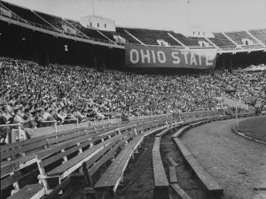 The Convocation of Students Being Held in the Football Stadium at Ohio State University