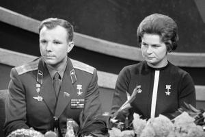 The Cosmonauts Yuri Gagarin and Valentina Tereshkova