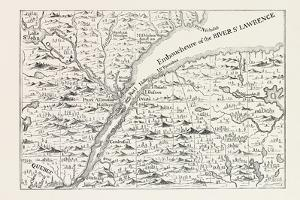 The Course of the River St. Lawrence as Far as Quebec (From Popple's Atlas, 1730) Canada, 1870S