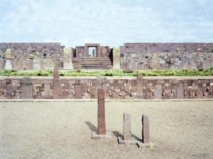 The Courtyard of the Temple of Kalasaya in Tiahuanaco or Tiwanaku
