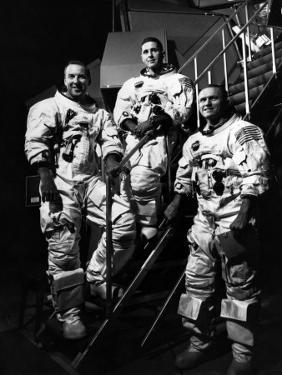 The Crew for the Apollo 8 Spacecraft: James A. Lovell Jr., William A. Anders, Frank Borman, 1968