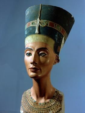 The Crowned Head of Nefertiti, Wife of Akhenaton
