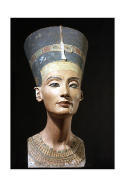 The Crowned Head of Nefertiti, Wife of Akhenaton