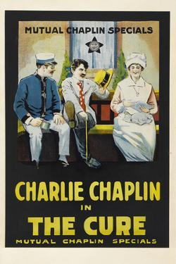 The Cure Movie Charlie Chaplin Edna Purviance Poster Print
