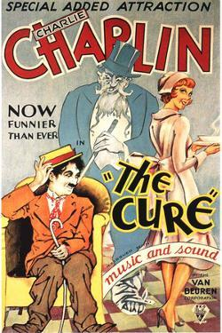 The Cure Movie Charlie Chaplin Plastic Sign
