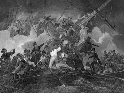 The Cutting Out of the Corvette La Chevrette, 21 July 1801 by J Rogers