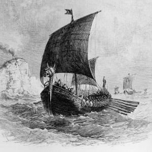 The Danish Ship Called the Raven, Viking Ship, Pre-800 AD
