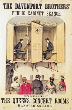 The Davenport Brothers, Poster for Seance, 1865