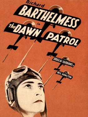 THE DAWN PATROL, Richard Barthelmess on poster art, 1930