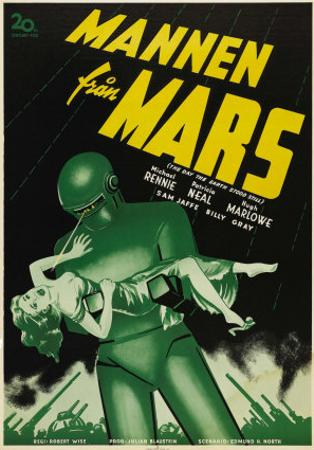 The Day The Earth Stood Still, Swedish Movie Poster, 1951