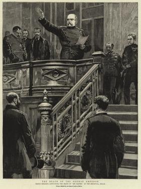 The Death of the German Emperor