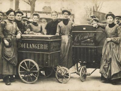 The Delivery Girls of Two Boulangeries in the 17th Arrondissement Paris