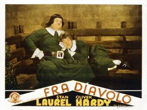 The Devil's Brother, (AKA Fra Diavolo), US Lobbycard, L-R: Oliver Hardy, Stan Laurel, 1933