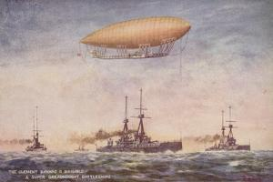 The Dirigible Airship Clement Bayard II and Superdreadnought Battleships