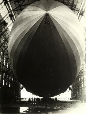 The Dirigible 'Zeppelin L.Z.129' Seen from the Inside of Its Hangar