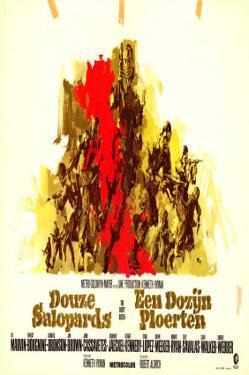 The Dirty Dozen, Belgian Movie Poster, 1967