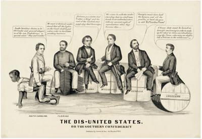 The Dis-United States Political Cartoon Art Print Poster