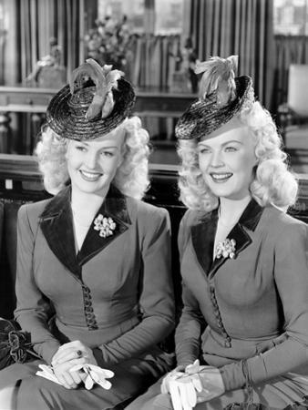 The Dolly Sisters, from Left, Betty Grable, June Haver, 1945