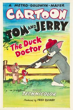 THE DUCK DOCTOR, left: Jerry, right: Tom on poster art, 1952.