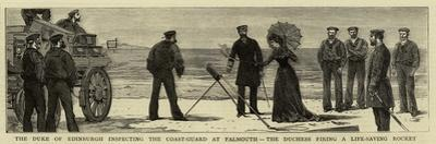The Duke of Edinburgh Inspecting the Coast-Guard at Falmouth