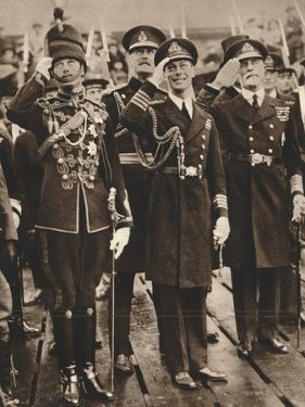 The Duke of York and Prince Henry Welcoming the Prince of Wales at Portsmouth, 1925