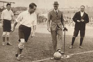 The Duke of York ,Charity Football Match, Tottenham Hotspurs and Corinthians, C1921