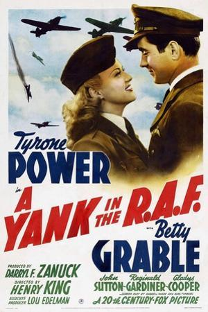 """The Eagle Flies Again, 1941, """"A Yank In the R. A. F."""" Directed by Henry King"""