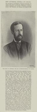The Earl of Aberdeen, the New Governor-General of Canada