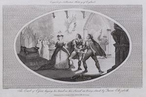 The Earl of Essex Laying His Hand on His Sword on Being Struck by Queen Elizabeth