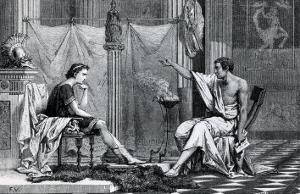 The Education of Alexander the Great by Aristotle from a Book by L. Figuier