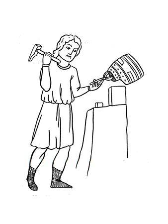 'German Helmsmith at Work', c1515
