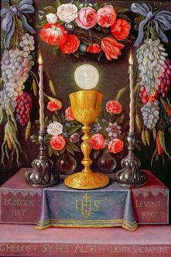The Eucharist by The Elder Kessel Jan Van