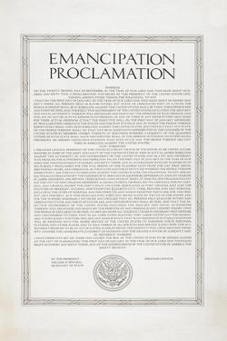 The Emancipation Proclamation. Abraham Lincoln Declares All Slaves in the United States Free