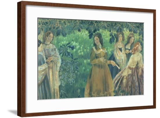 The Emerald Necklace, 1903-04-Viktor Elpidiforovich Borisov-musatov-Framed Giclee Print