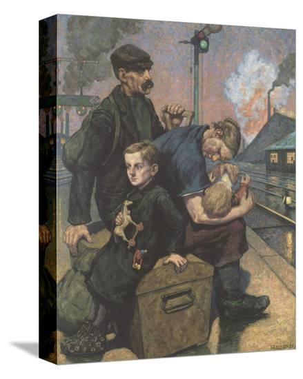 The Emigrants-Hans Baluschek-Stretched Canvas Print