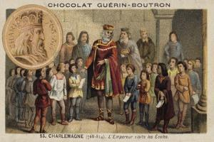 The Emperor Charlemagne Visiting a School, 814