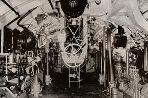 The Engine Room of a Holland Submarine, C1916