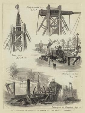 The Erection of Cleopatra's Needle on the Thames Embankment