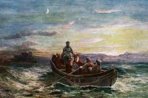 The Escape of Mary Queen of Scots from Loch Leven Castle, 19th Century by E Danby