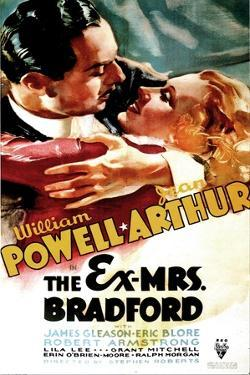 THE EX-MRS. BRADFORD, US poster art, from left: William Powell, Jean Arthur, 1936