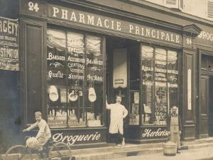 The Exterior of a Chemist's Shop Most Probably in Paris