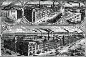 The Factories of the Singer Manufacturing Company, C1880