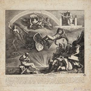The Fall of Napoleon - Cartoon of the Fall of Italy, 1814