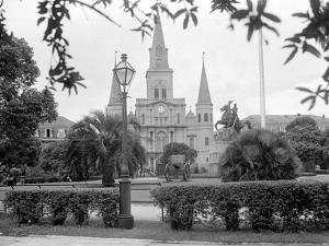 The Famed Old St. Louis Cathedral Faces Jackson Square or Place D'Armes