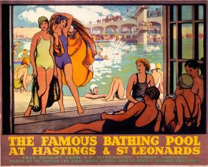 The Famous Bathing Pool at Hastings and St Leonards, LMS, c.1920s