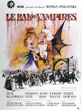 The Fearless Vampire Killers, (aka Le Bal des Vampires), French poster, 1967