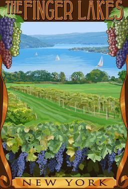 The Finger Lakes, New York - Vineyard Scene