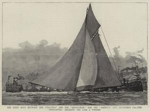 The First Race Between the Galatea and the Mayflower for the America Cup